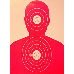 B-27 Fluorescent Pink Silhouette Targets 19x25