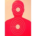 Qty:100, Fluorescent Pink Silhouette Shooting Targets 19x25