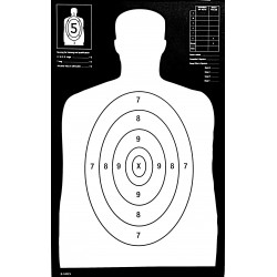 Qty:100, B-29 REV. 25 Yard Black Silhouette Shooting Targets 14x23