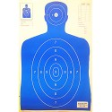 Qty. 100 B-27 Blue Silhouette Shooting Targets 23x35