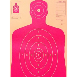 Qty. 100 B-27 Pink Silhouette Targets 23x35
