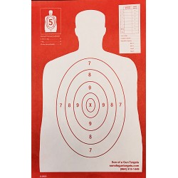Qty:100, B-29 REV. 25 Yard RED Silhouette Shooting Targets 11x17