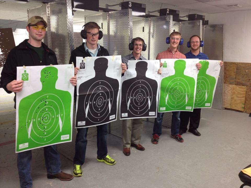 CONCEALED CARRY STUDENTS SUCCESSFULLY COMPLETING THE RANGE TEST