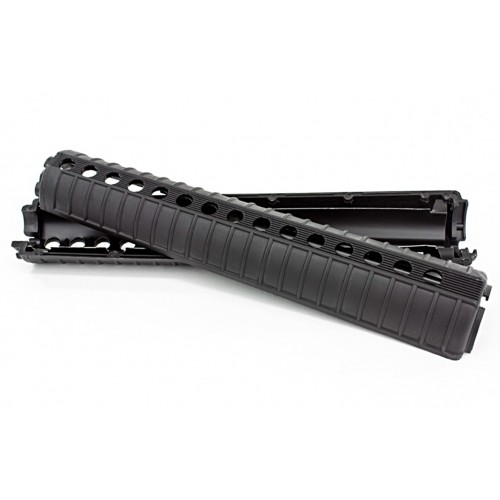 AR15/M4 PLASTIC HANDGUARD, TWO PIECE, SHIELDED, RIFLE LENGTH