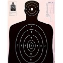 Qty. 100 B-27 Black Silhouette Shooting Targets 23x35
