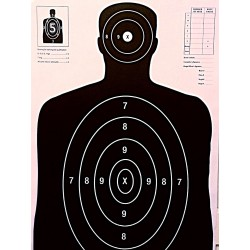 Qty:50, B-27 Black Silhouette Shooting Targets 23x35