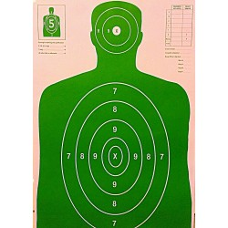 Qty: 100 B-27 Green Silhouette Shooting Targets  23x35