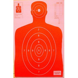 Qty. 100 B-27 Orange Silhouette Shooting Targets 23x35